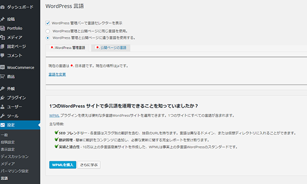 Wordpress Language1